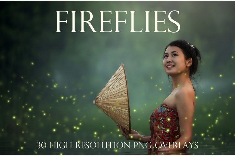 Sparkling firefly photographic overlays example image 1