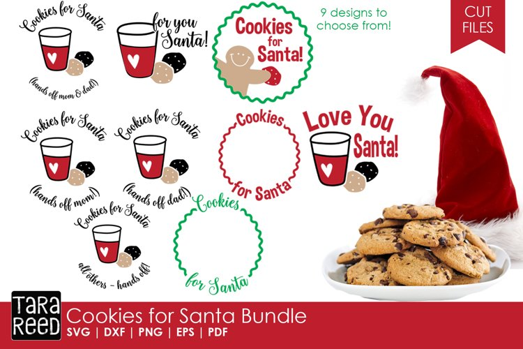 Cookies for Santa - Christmas SVG & Cut Files for Crafters example image 1