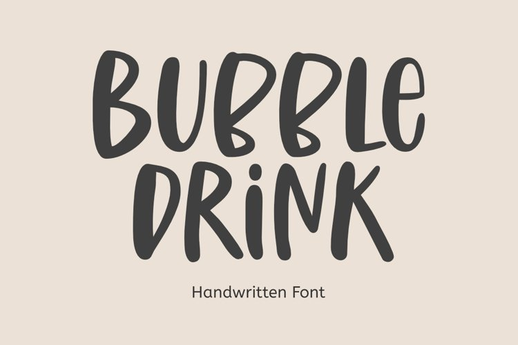 Bubble Drink | Handwritten Font example image 1