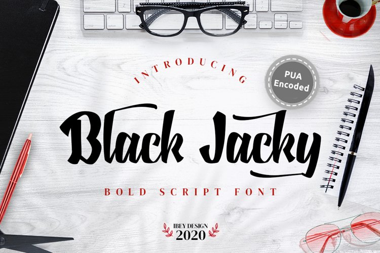 Black Jacky - Bold Script example image 1