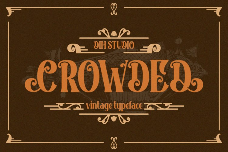 Crowded Vintage Font example image 1