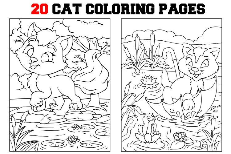 Coloring Pages For Kids - 15 Cat Pages