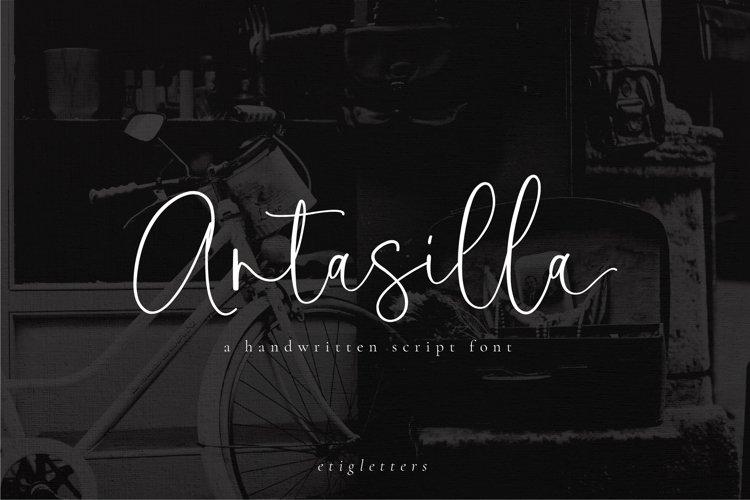 Antasilla - Handwritten Font example image 1