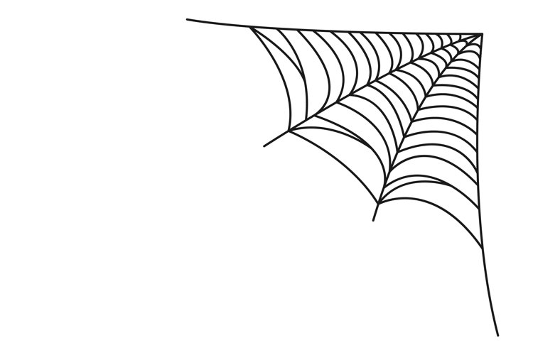 Hanging spider web vector isolated svg example image 1