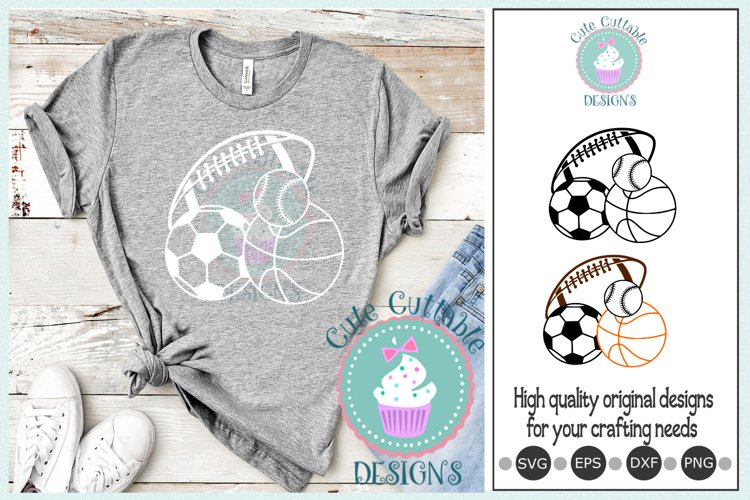 Sport Balls, Basketball, Baseball, Volleyball, Football svg