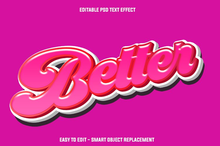 magenta text effect example image 1