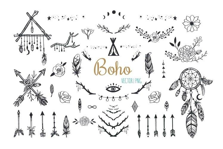 Boho mystic collection, arrows , decor elements,dreamcatcher