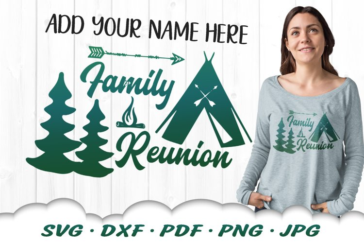 Family Reunion Camping SVG DXF Cut Files example image 1