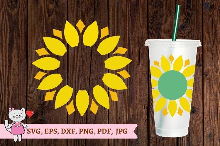 Sunflower svg, Starbucks Cold Cup 24 svg , Tumbler svg