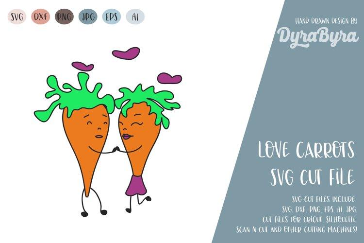Love carrot svg / Valentines day svg / Valentine / Love SVG example image 1