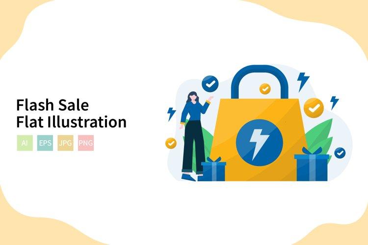 Flash Sale Flat Vector Illustration example image 1