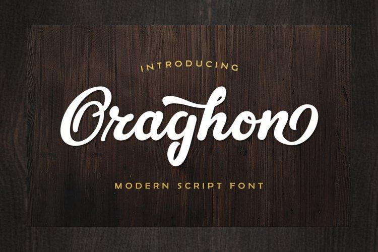 Oraghon Script example image 1