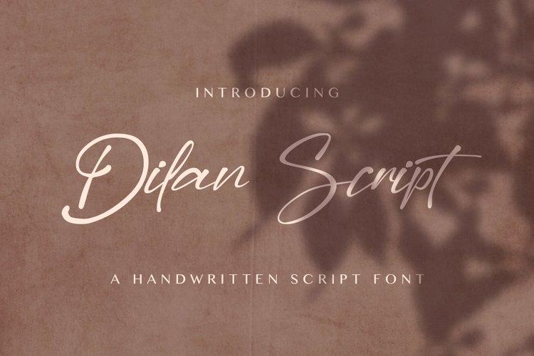 Dilan Script - Handwritten Font example image 1