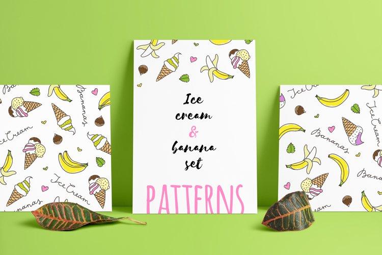 Banana and Ice Cream patterns