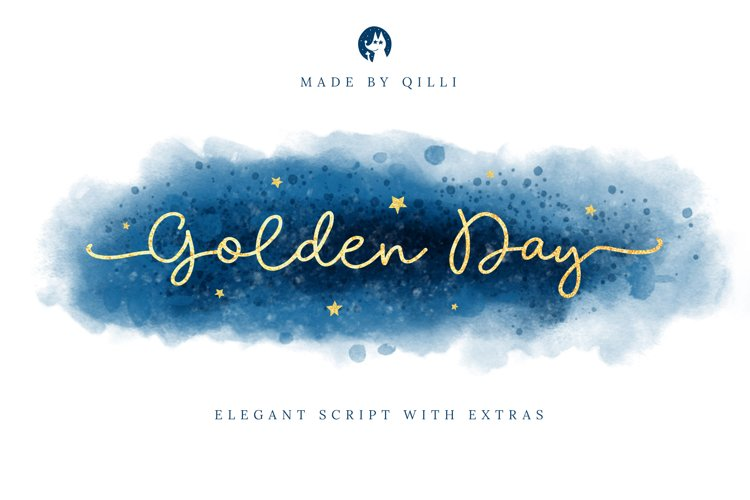 Golden Day Font with Extras & Shapes example image 1
