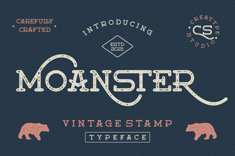Moanster Vintage Stamp example image 1