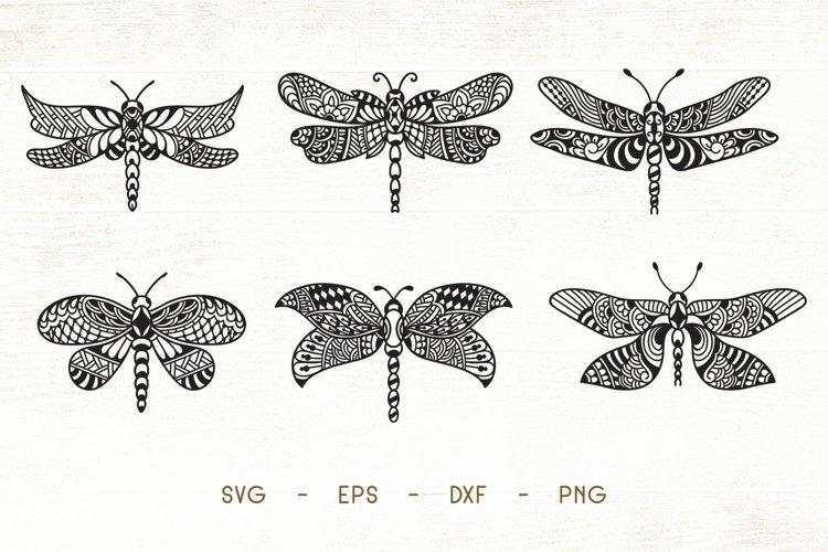 Dragonfly Zentangle - Dragonfly Doodle Art SVG