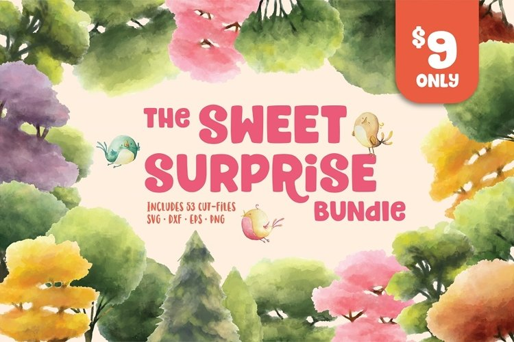 The Sweet Surprise SVG Bundle example image 1