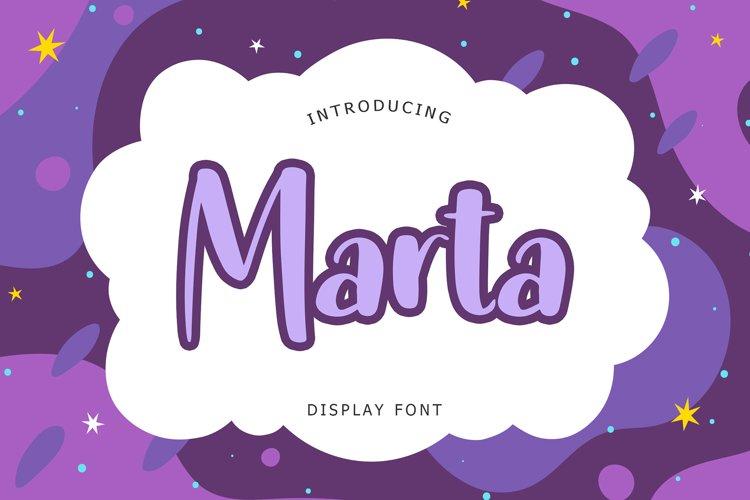 Marta Display Font example image 1