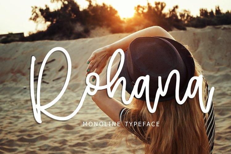 Rohana Monoline Typeface example image 1