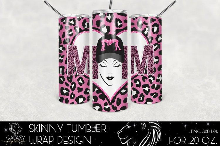 Wrestling Mom 20 Oz. Skinny Tumbler Wrap Sublimation Design