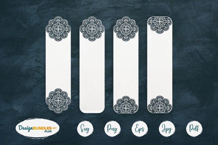 Mandala bookmark papercut templates | Flourish SVG bookmark