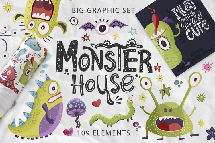 Monster House. Big graphic pack. example image 1