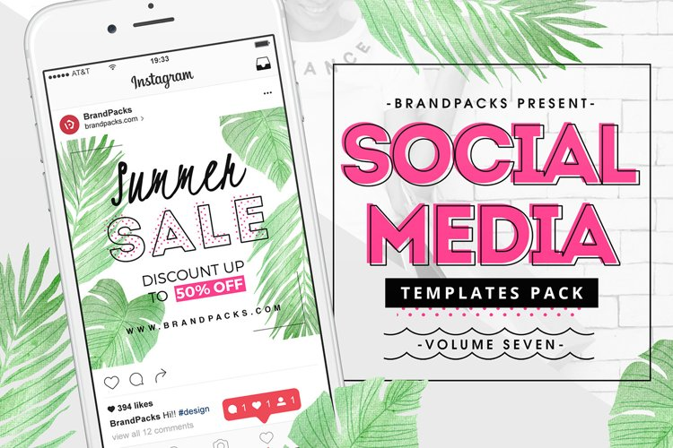 Summer Sale Social Media Templates Pack example image 1