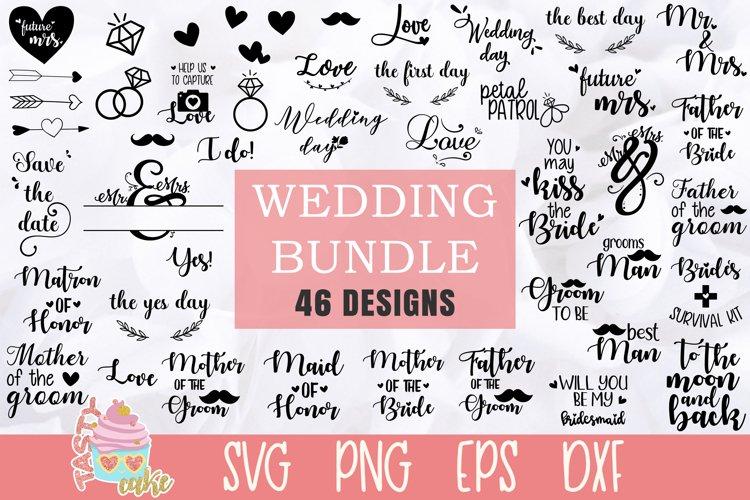 Wedding Bundle SVG - 46 Wedding Cut Files example image 1