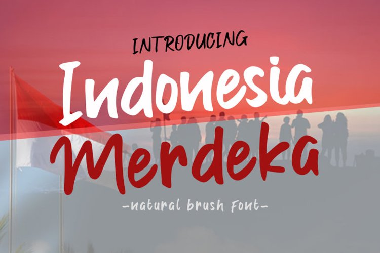 Indonesia Merdeka | A Stylish Handwritten Brush Font