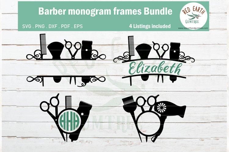 Download Barber Monogram Svg Bundle Hairstylist Monogram Hairdresser 434624 Cut Files Design Bundles