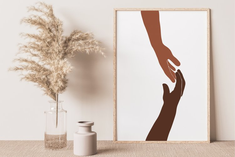Abstract Hands Wall Print, Love Couple Wall Print