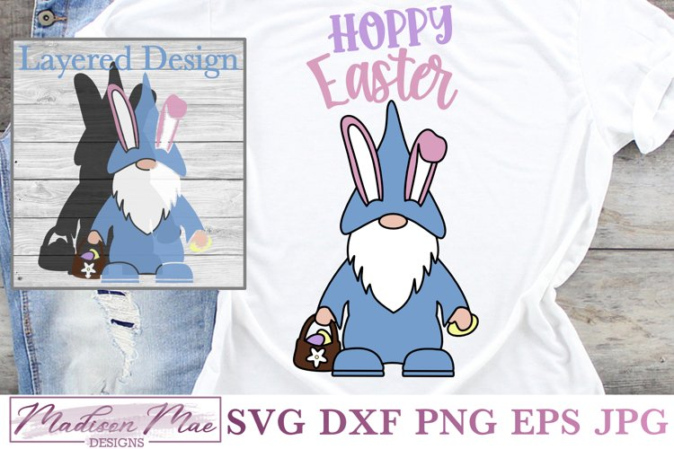 Hoppy Easter Gnome SVG example image 1