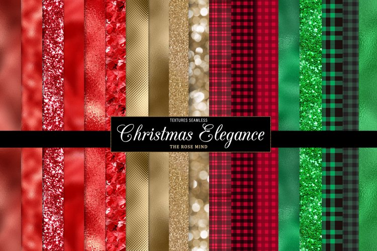 Christmas seamless textures, digital paper, scrapbooks
