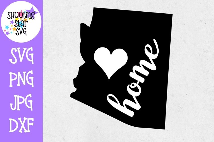 Arizona Home State with Heart - 50 States SVG example image 1