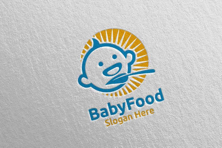 Baby Food Logo for Nutrition or Supplement Concept 76 example image 1