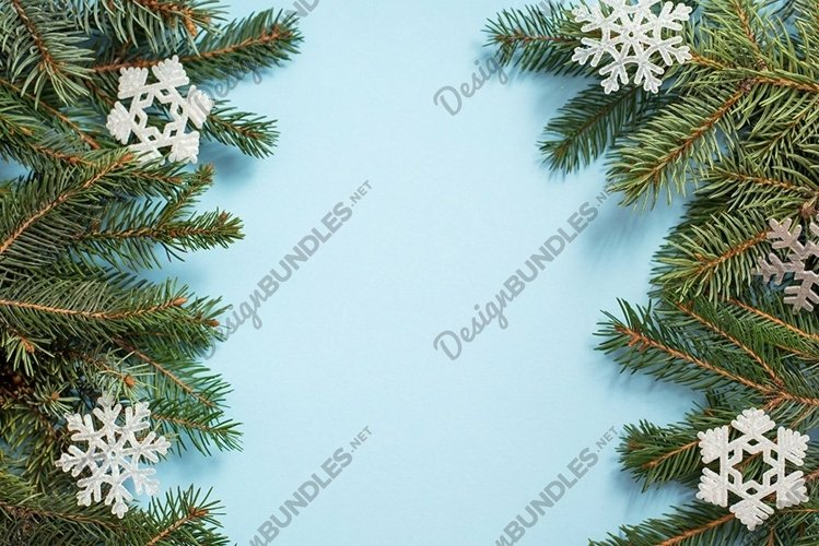 frame from Christmas Tree Pine Branches and Christmas