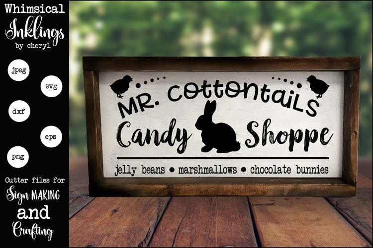 Mr Cottontails Candy Shoppe SVG example image 1