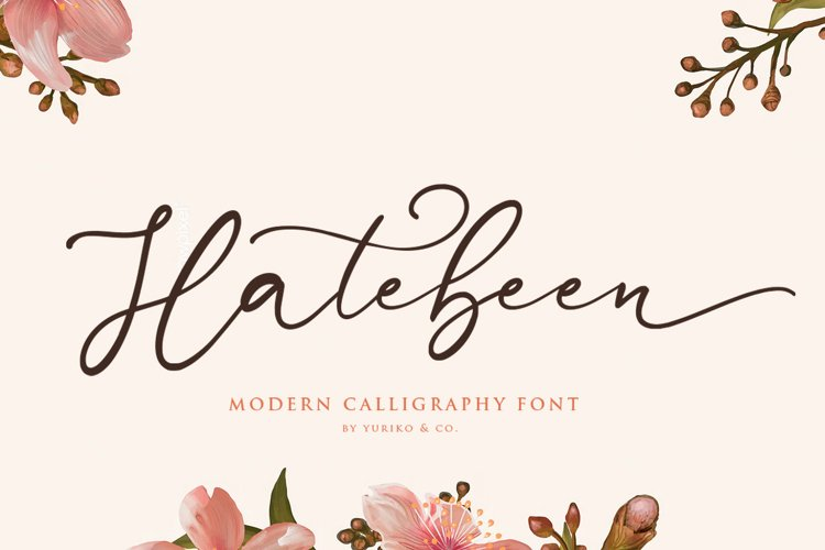 Hatebeen - Modern Script Font example image 1