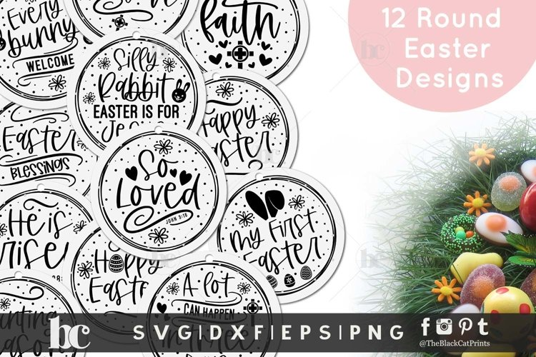 Easter rounds SVG| Easter Ornaments SVG | Easter bundle SVG