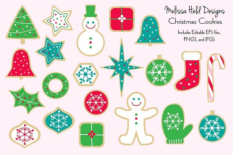 Christmas Cookies Clipart Graphics
