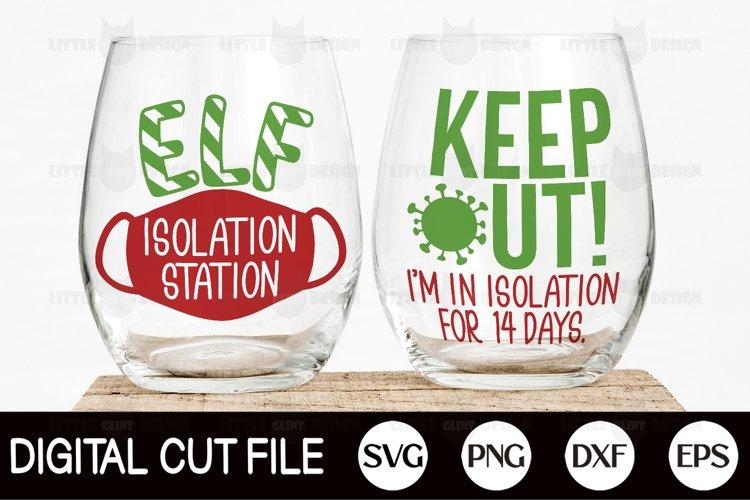 Elf Isolation Station SVG, Bundle, Elf quarantine Christmas example image 1