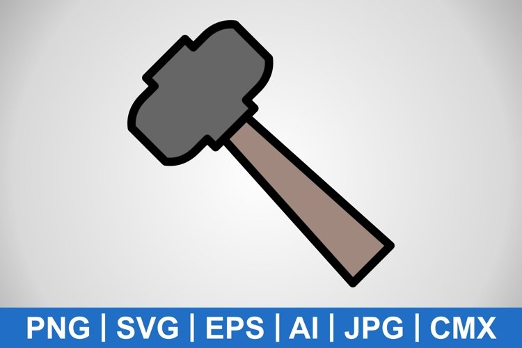 Vector Hammer Icon example image 1