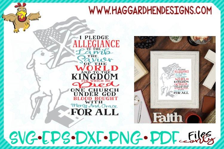 Pledge Allegiance to the Lamb SVG example image 1