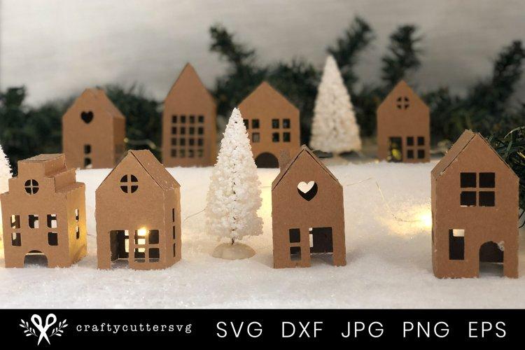Christmas Village Svg Bundle  DIY Christmas 3D House - Free Design of The Week Design3