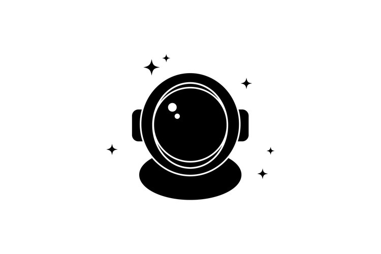 Astronaut helmet space icon. Vector