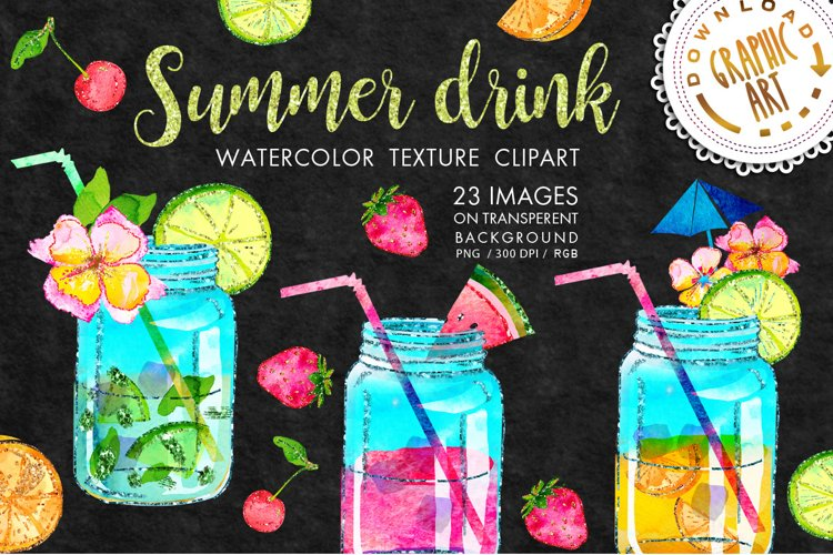Summer drink Clip Art example image 1