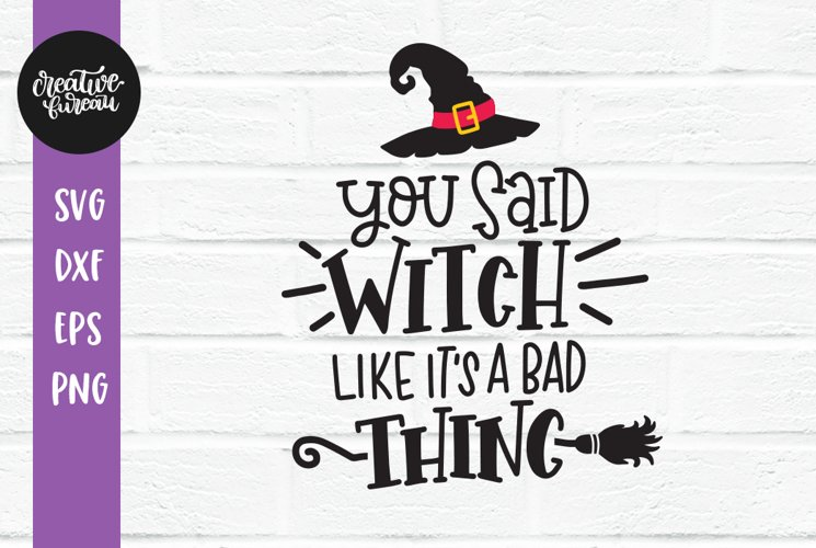 Halloween SVG DXF, Witch SVG, Cut File