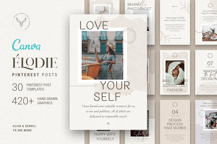 Elodie - Canva Pinterest Post Templates