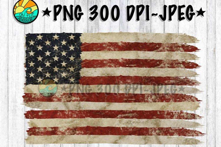 USA Flag - Vintage - Distressed - PNG 300 DPI - JPEG example